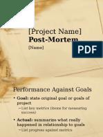 Project Post-mortem Presentation