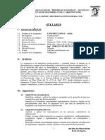 Syllabus Construccion II 2015
