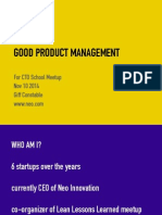 What is Good Product Management