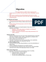Lecture 5 (the Great Migration)