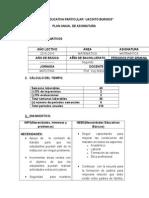 Plan Anual Segundo Bachillerato