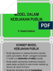 Model Dalam Kebijakan Publik