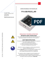 Pvi-usb-rs232 485-Installer Manual en Rev a m000009ag 0