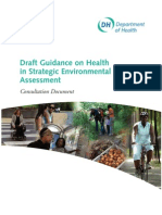Draft Guidance on Health in SEA - DH England - 2007