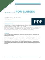 Whitepaper DNVGL Sesam for Subsea