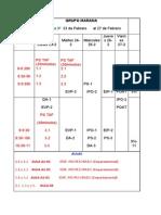 Cronograma Mañana y Tarde