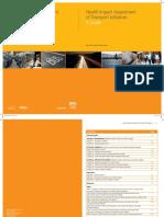 HIA of Transport Initiatives a Guide - HS IOM Scotland - 2007