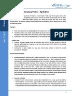 Monetary Policy - April 2015