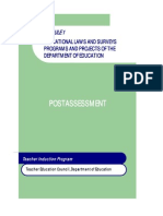 Module 1 Educational Laws and Surveys Programs and Projects of the DepEd - Post Assessment