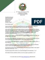 150414 AMN Letter to UH President Lassner