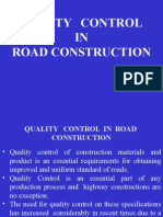 Quality Control in Road Construction
