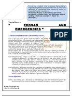 Course Detail of Ecosan and Emergencies