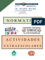Normativa Del Omr Para Actividades Extraescolares en Zuazo
