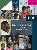 Rapport sur la scolarité des enfants dans le monde