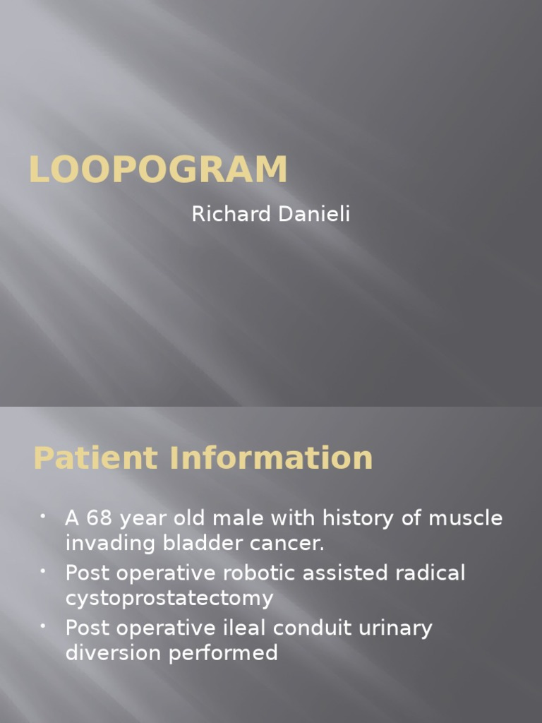 distal loopogram