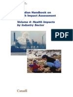 Canadian Handbook of HIA Vol 4 Health Impacts by Industry Sector - HC Canada - 2004