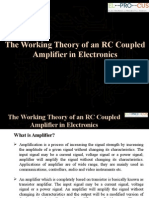The Working Theory of an RC Coupled Amplifier in Electronics
