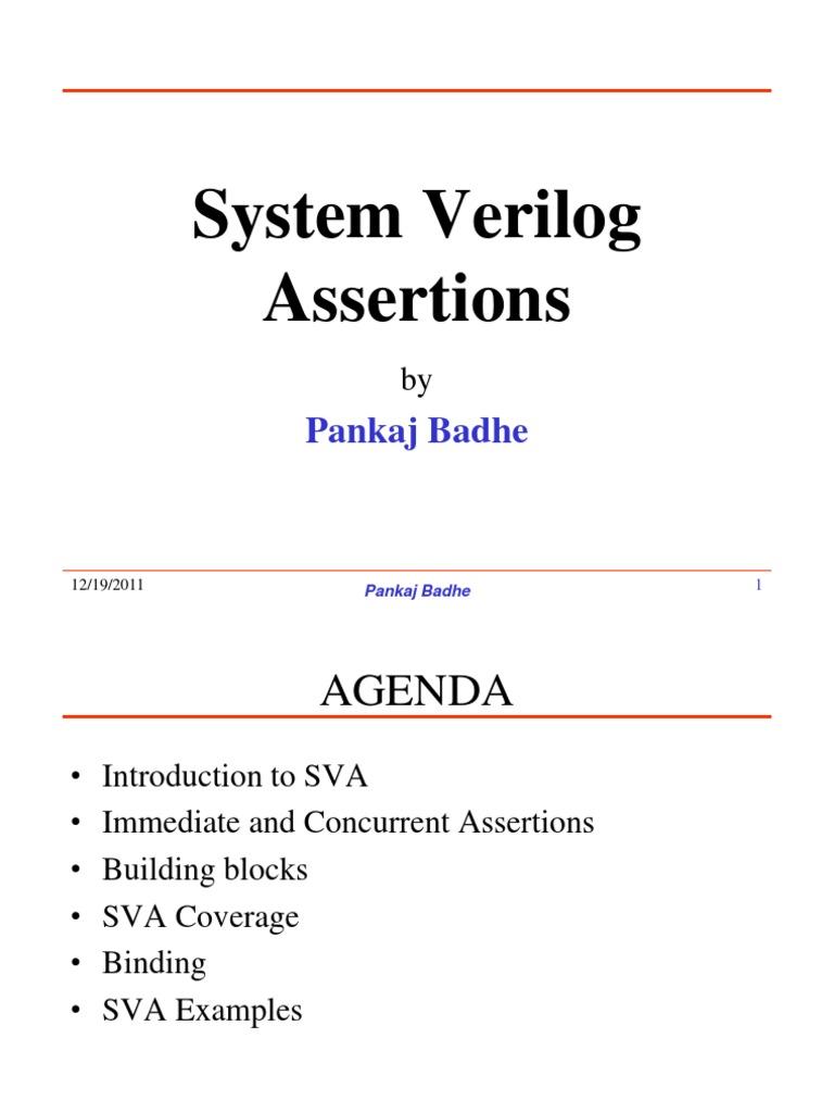 SV Assertions | Software Engineering | Computer Engineering