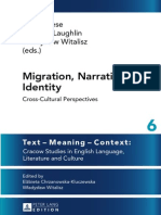 (Text - Meaning - Context_ Cracow Studies in English Language, Literature and Culture) Peter Leese, Carly McLaughlin, Wladyslaw Witalisz-Migration, Narration, Identity_ Cross-Cultural Perspectives-Pet