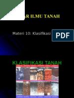 DIT 10-Klasifikasi Tanah