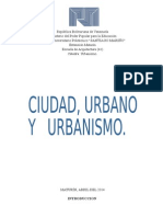 Urbanismo. Trabajo 1 (Ciudad)