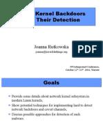 ITUnderground2004 Linux Kernel Backdoors