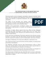 Malawi on Xenophobic Attacks in Sa