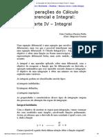 As Operações Do Cálculo Diferencial e Integral_ Parte IV - Integral