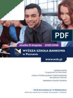 Informator 2015 - studia II stopnia - Wyższa Szkoła Bankowa w Poznaniu.pdf