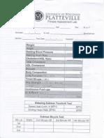 fit lab sheet
