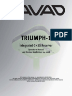 Javad Triumph Operatormanual