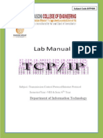 TCP/IP Lab Manual BE