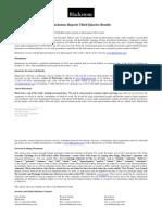 Blackstone 3 q 14 Earnings Press Release