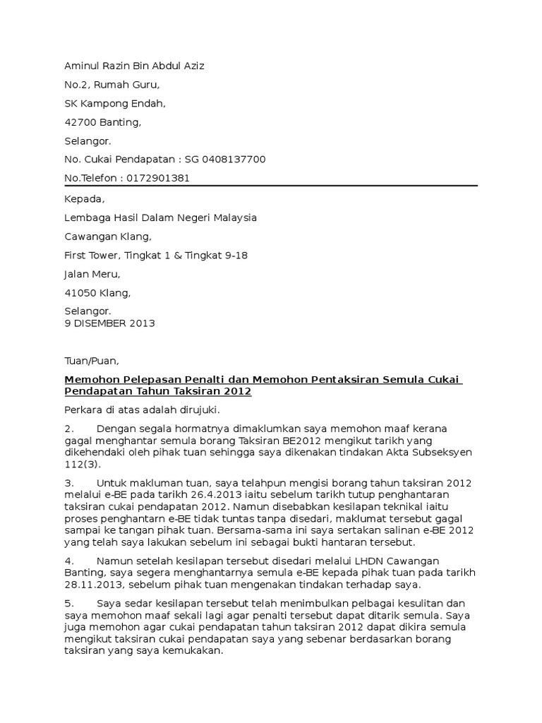 Surat LHDN