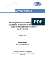 Development of Models for the Equations of Motion in the Solar System-Implementations and Applications