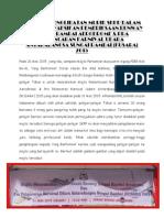 Laporan Penglibatan Murid Dalam Majlis Meyaksikan Pemeriksaan Runway Sungai Rambai