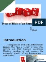 Types of Risk of an Entrepreneur