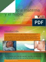 Lactancia Materna y El Habla