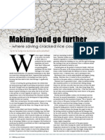 Making food go further - where saving cracked rice could help