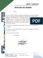 Certificado Juan Elias