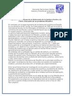 Resumen Capítulo 8. Historia Filosofía de La Química