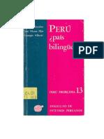 Perú, ¿País Bilingüe?