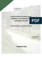 Percepción de La Educación en La Localidad de Oyón