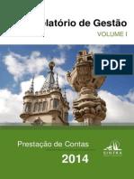Prestação de Contas de 2014 da Câmara de Sintra - Relatório de Gestão