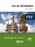 Prestação de Contas de 2014 da Câmara de Sintra - Relatório de Actividades