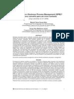 Artigo - Afinal, o Que é Business Process Management (BPM) Um Novo Conceito Para Um Novo Contexto