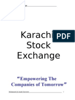 Report FI Karachi Stock Exchange