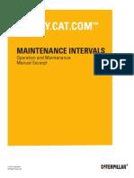 CATERPILLAR - Maintenance Interval Schedule