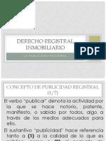 La Publicidad Registral