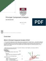 Principal Component Analysis Primer
